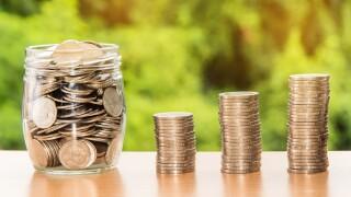 coins retirement saving money