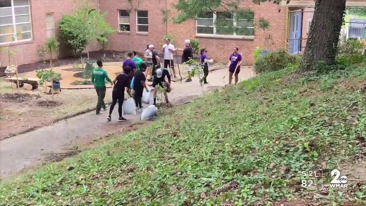 Ravens hold annual Volunteer Day