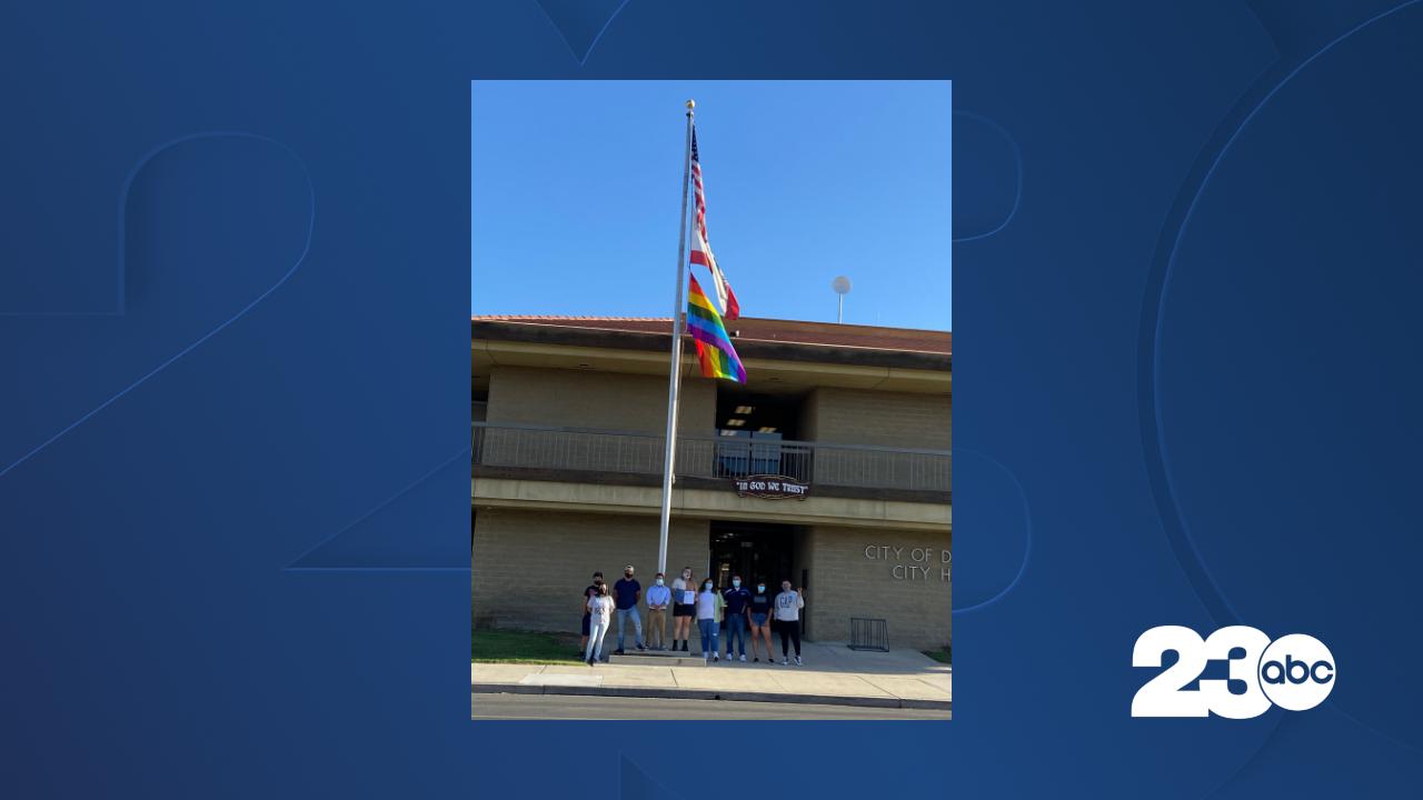 Pride Flag at Delano City Hall