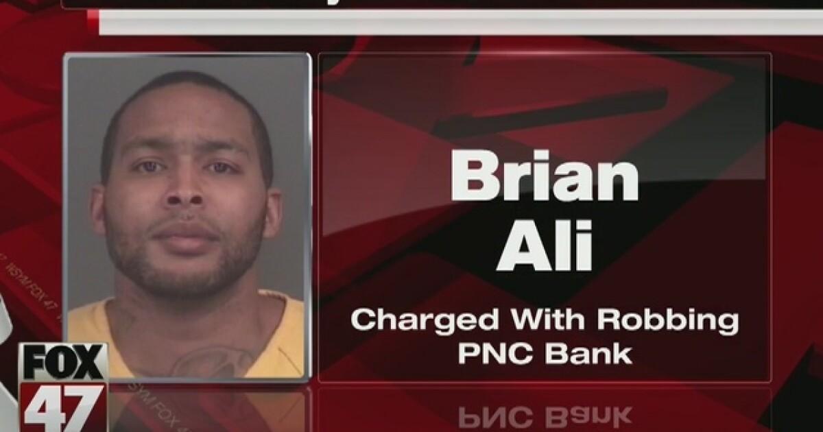 Lansing man charged with robbing PNC Bank