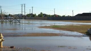 Water line breaks on South Staples Street