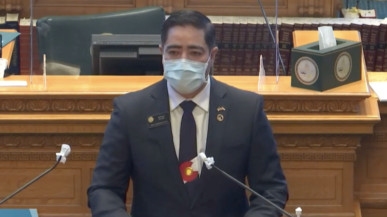 Dem. Rep. Donald Valdez on the Colorado House Floor Calling for the Censure of GOP Rep. Ron Hanks