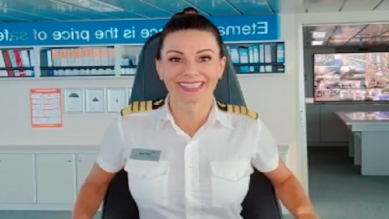 Meet Kate McCue: The First American Female Captain Of A Mega Cruise Ship