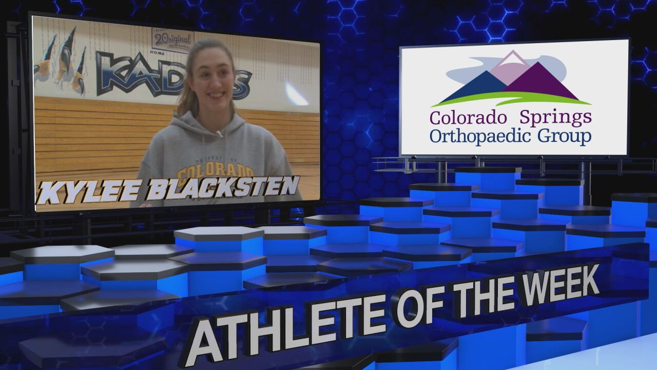 KOAA Athlete of the Week: Kylee Blacksten, Air Academy Kadets