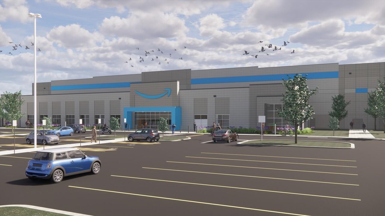 Amazon's new sortation center rendering