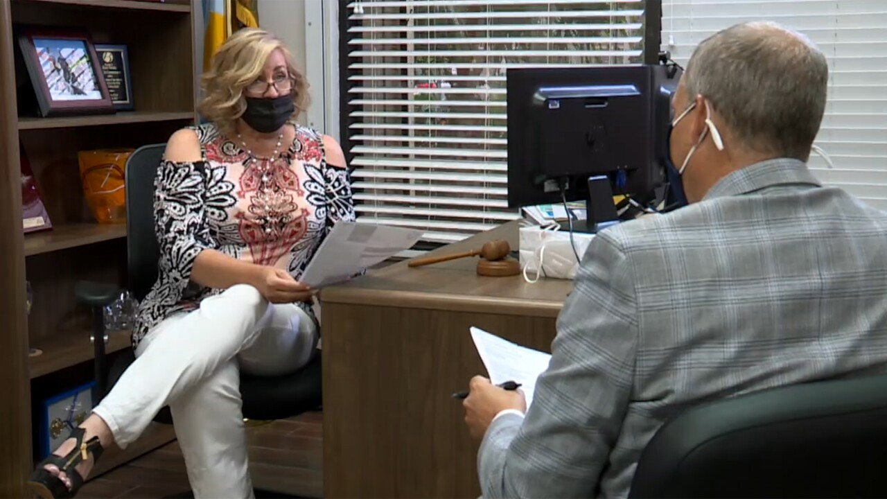 Delray Beach Mayor Shelly Petrolia and Contact 5 investigator Michael Buczyner