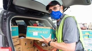 Akron Canton Regional Foodbank volunteer