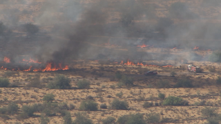 Brush fire near Tatum and Pinnacle Peak