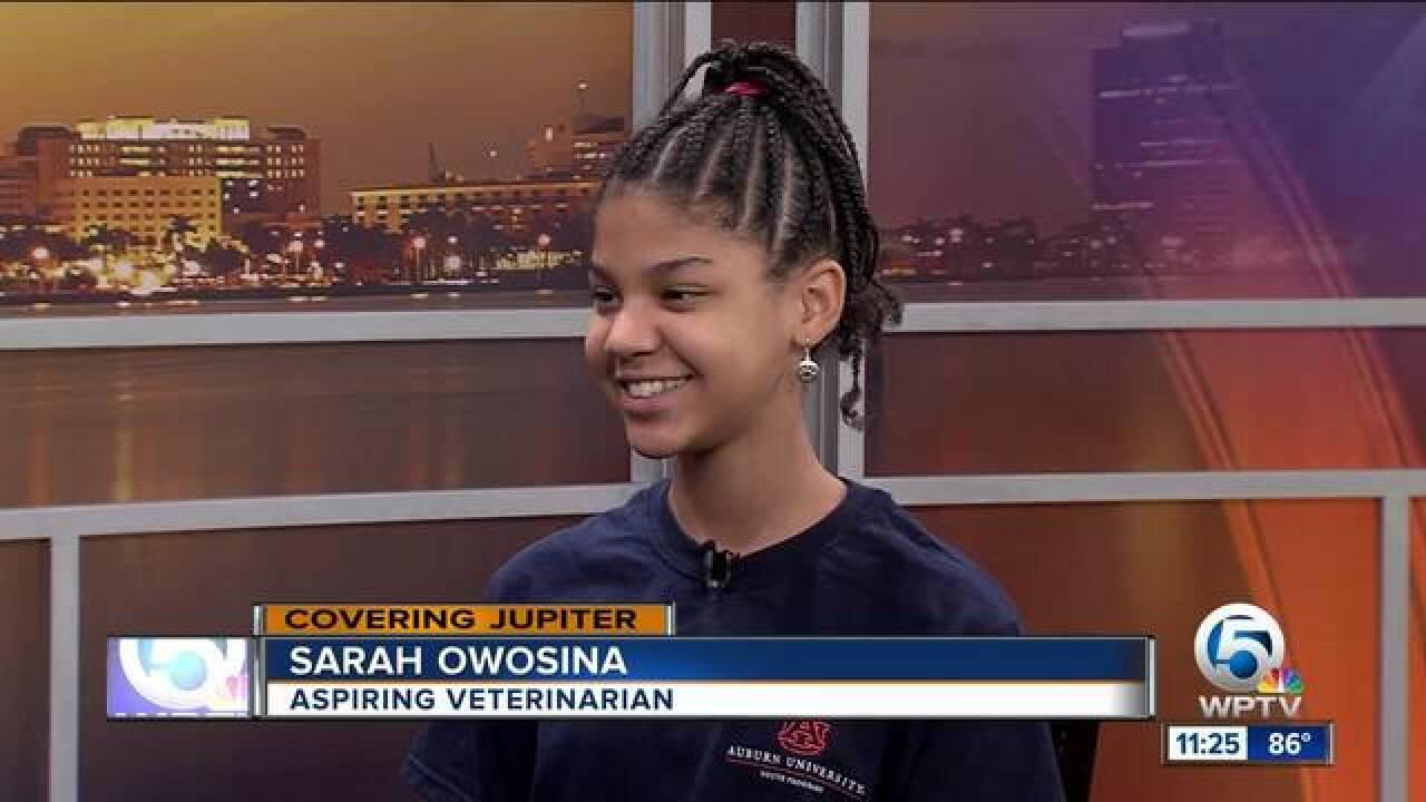 Jupiter girl attends veterinarian camp in Alabama