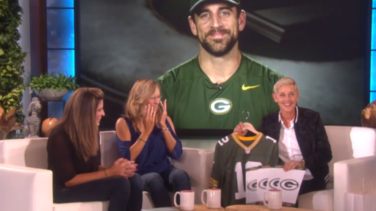 Aaron Rodgers Surprises Madison Kidney Donor On Ellen