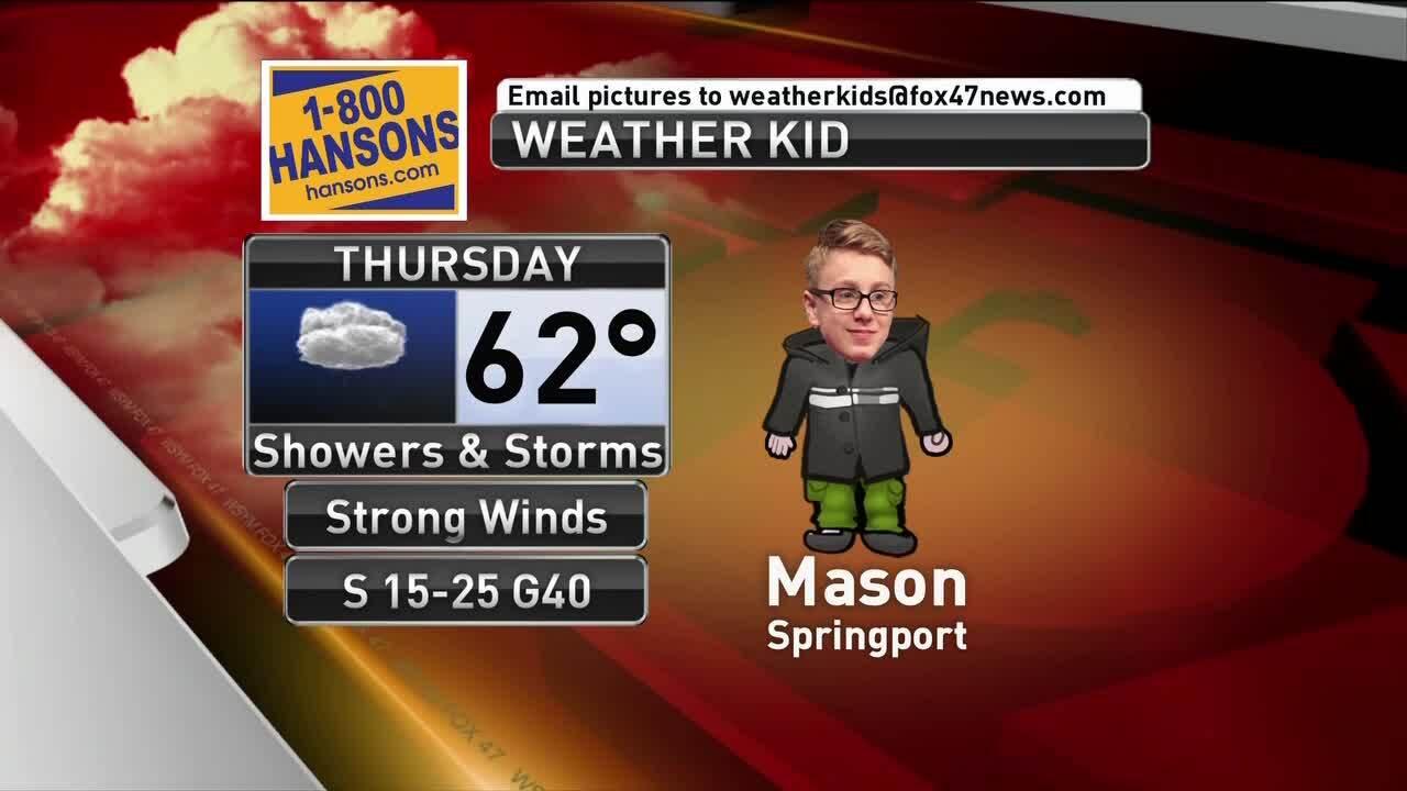 Weather Kid - Mason - 3/14/19