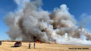 Fire scorched more than 1,000 acres west of Dutton