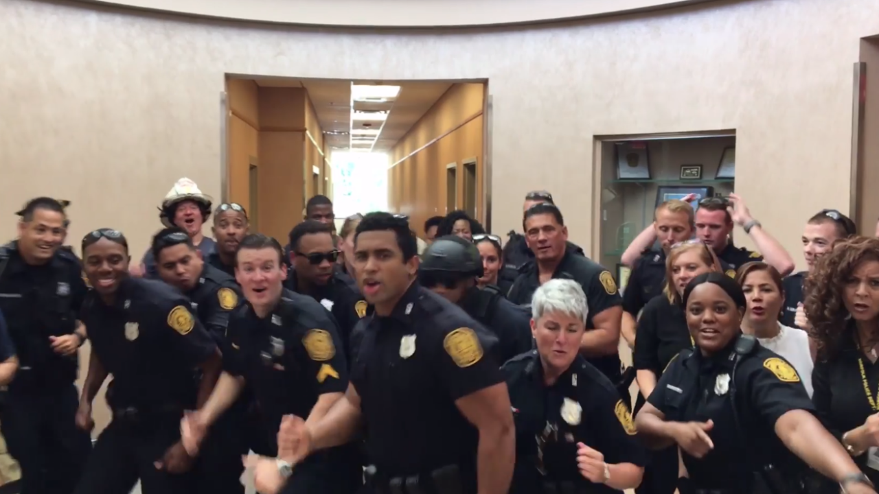Norfolk Police's viral lip sync video selected for CBS special show