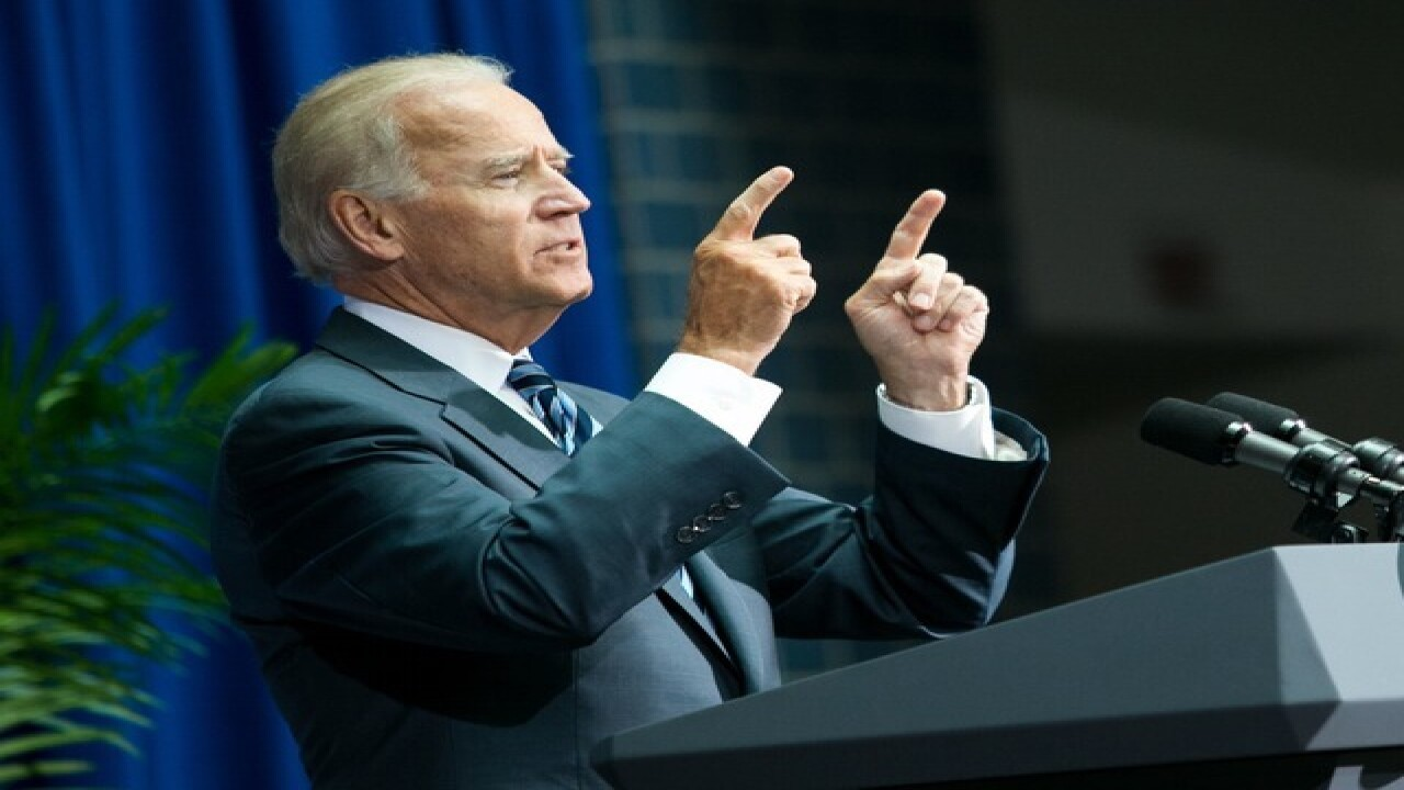 Joe Biden visits Cincy to support Ted Strickland