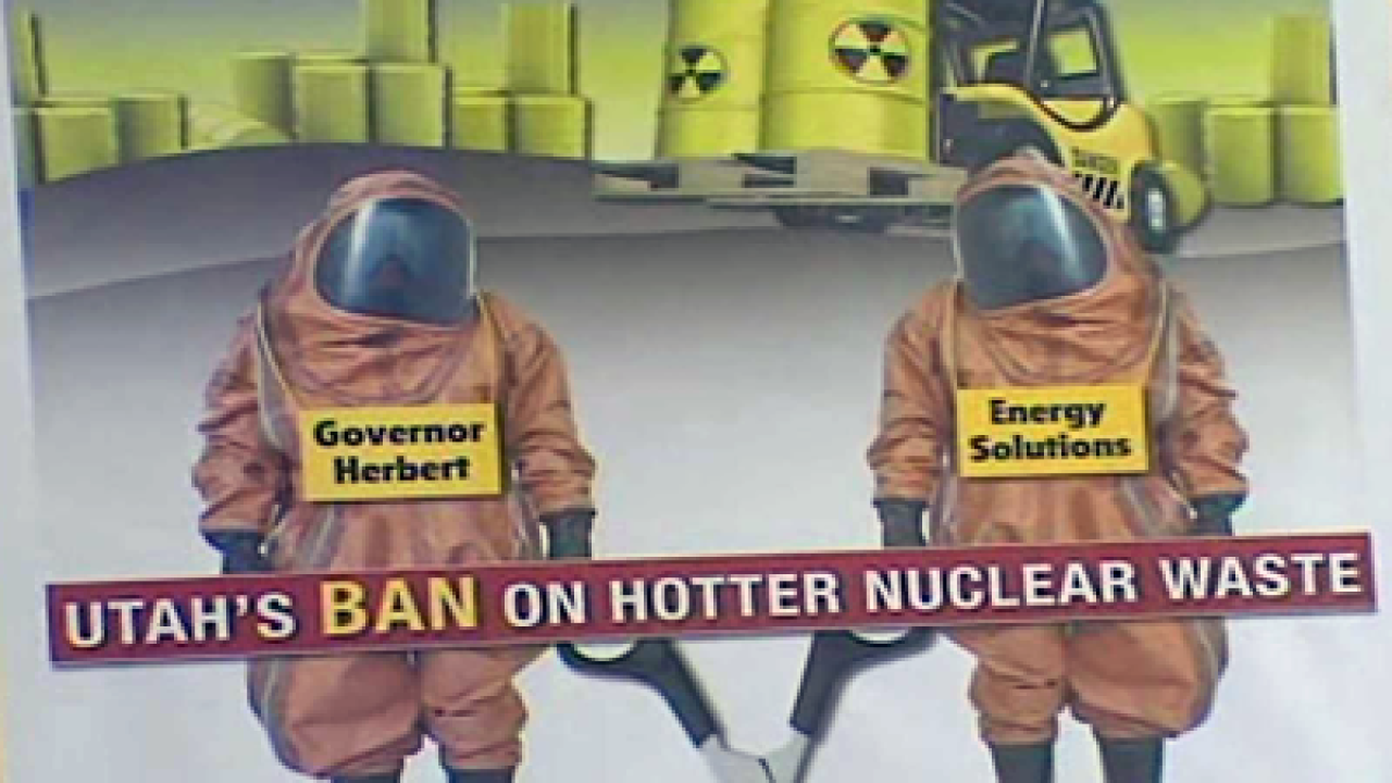 Opponents call for ban on blended nuclear waste in Utah