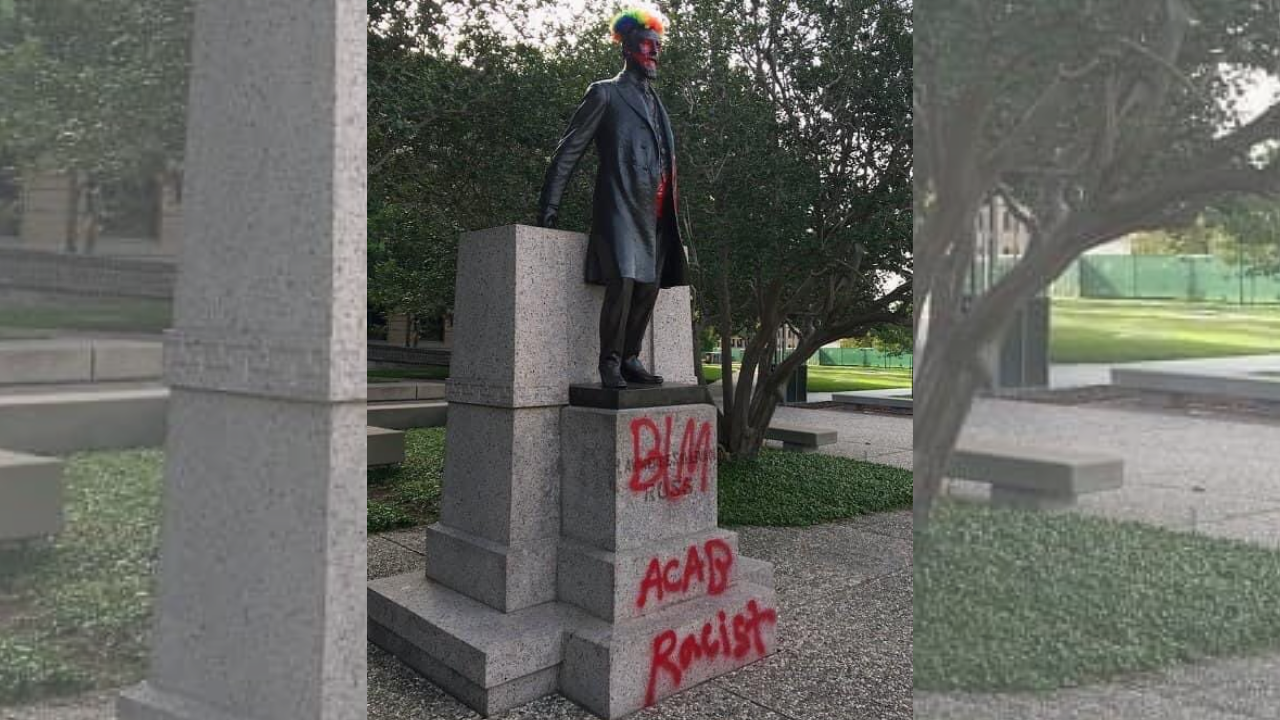 Sully Statue defaced