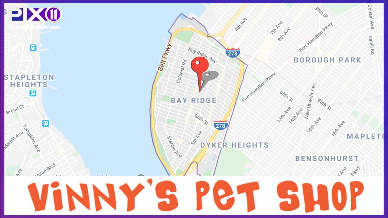 Vinny's Pet Shop location