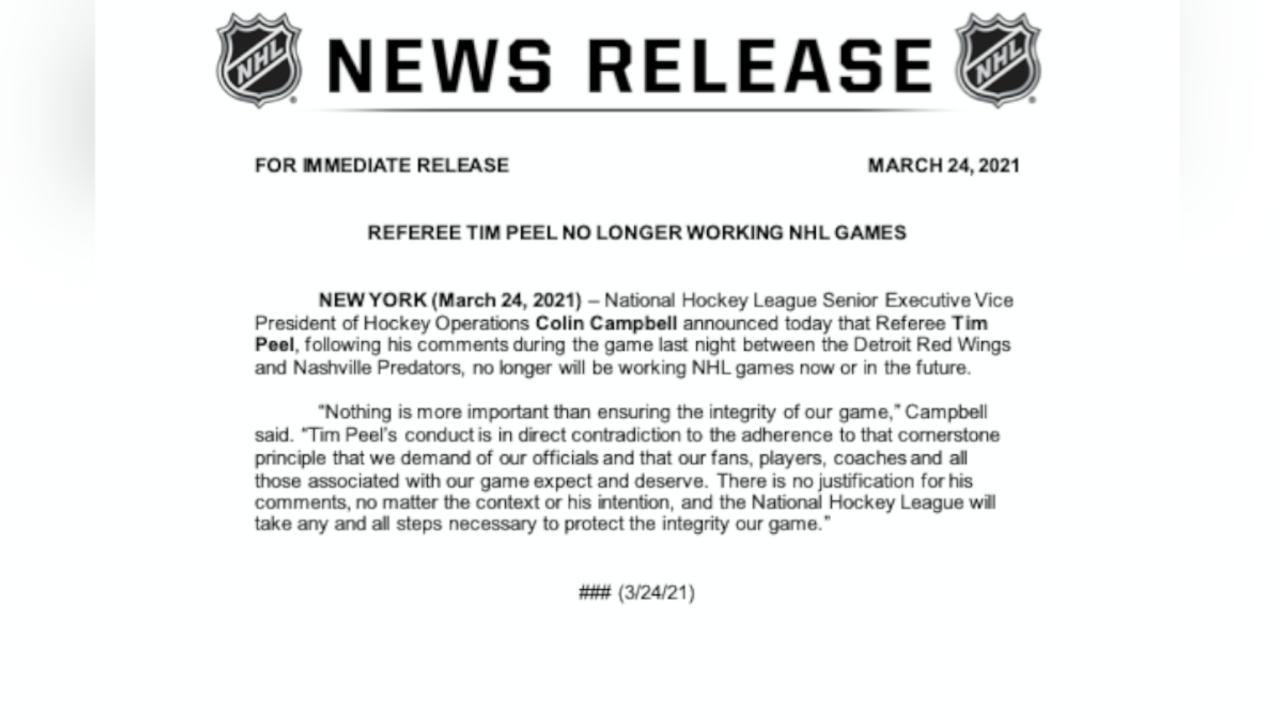 N.H.L. referee's hot mic comment raises questions about league's integrity