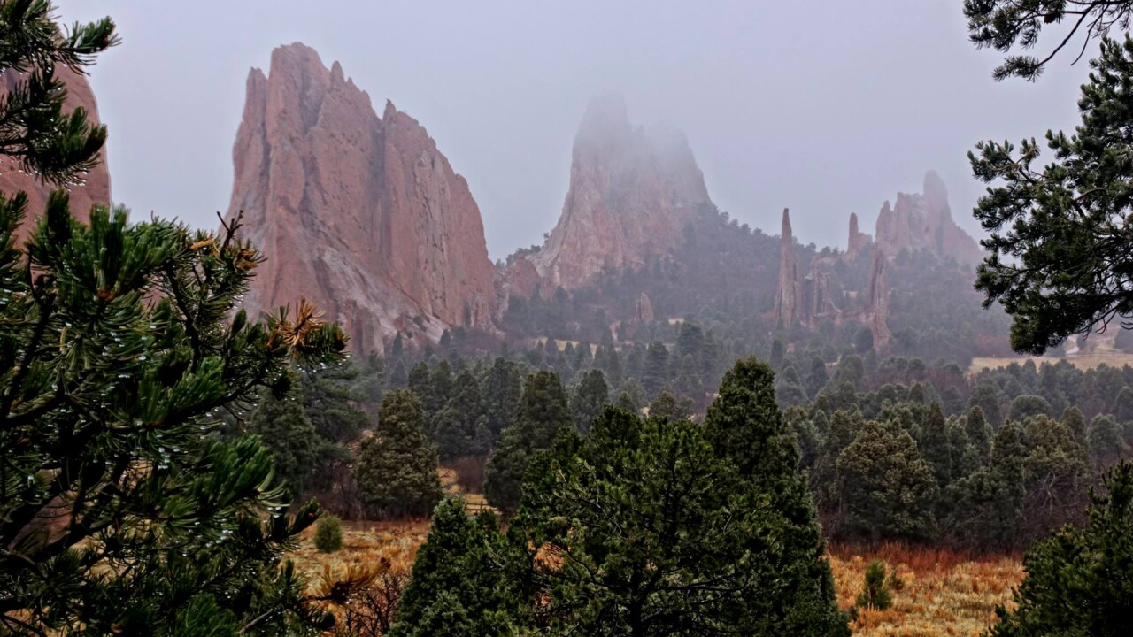 Larry Marr Garden of the Gods Fog