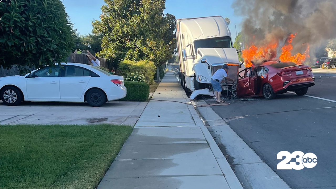 Palm Avenue Accident, Bakersfield, July 5, 2021