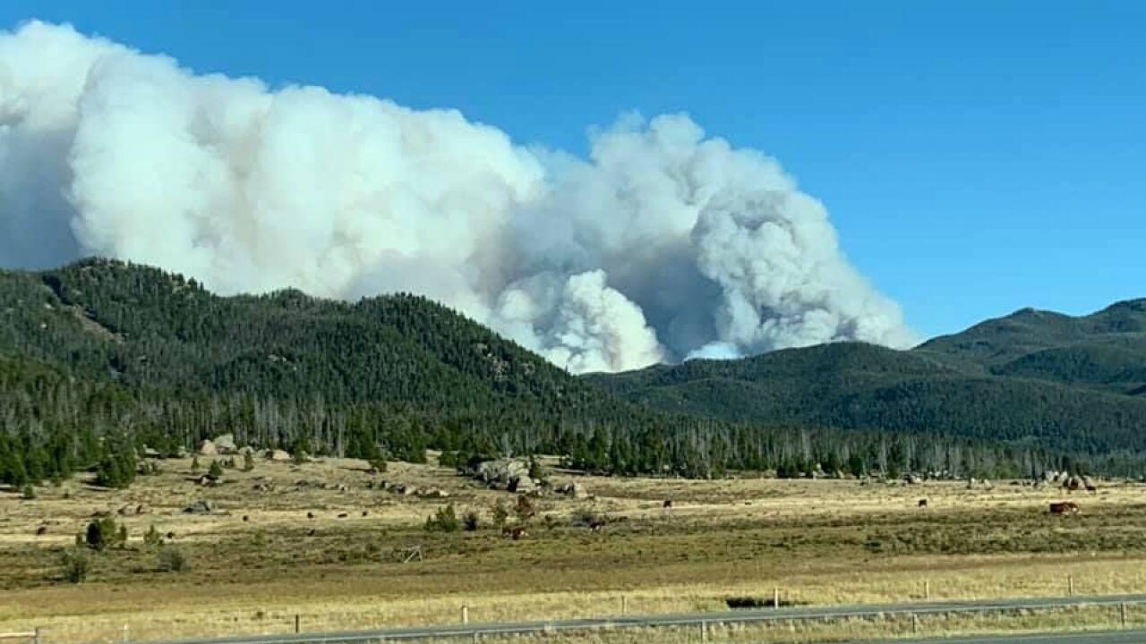 McClusky Fire east of Butte