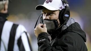 Texas A&M Aggies head coach Jimbo Fisher in November 2020