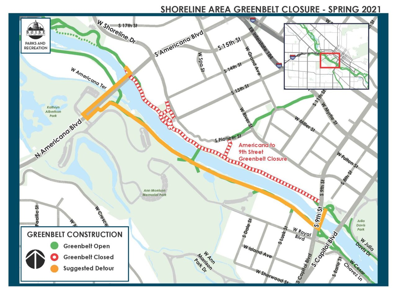 Shorline Area Greenbelt Closure 2021