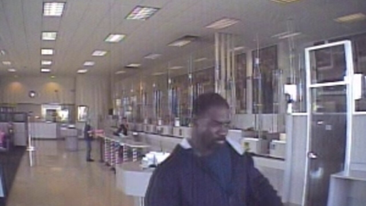 College Area bank robbery suspect at large
