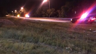 Motorcycle accident at southbound I-25 at the MLK Bypass
