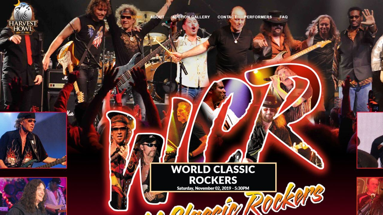 World Classic Rockers will perform at Harvest Howl
