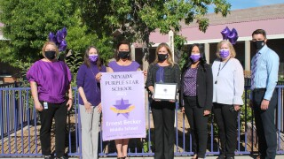 Becker Middle School Team_nevada purple star