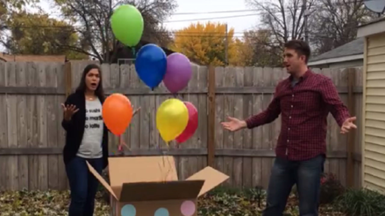 Balloon shop mixes up baby gender reveal