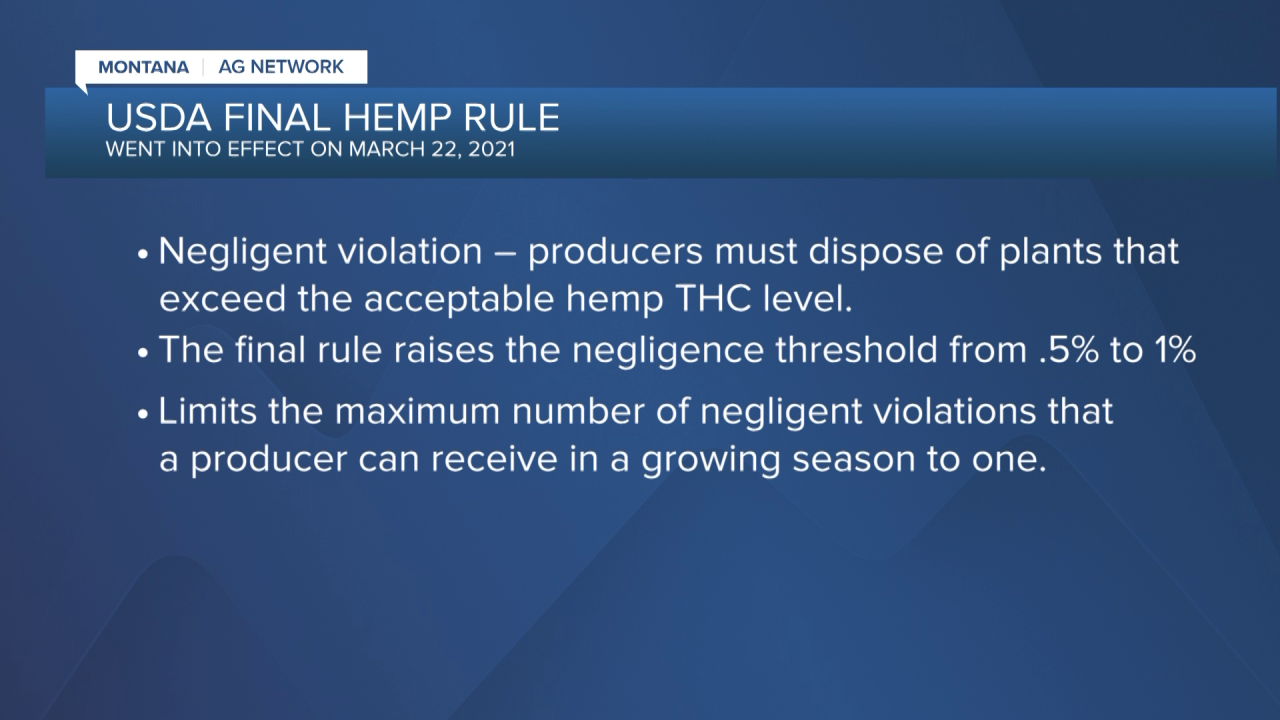 USDA hemp production guidance now in effect