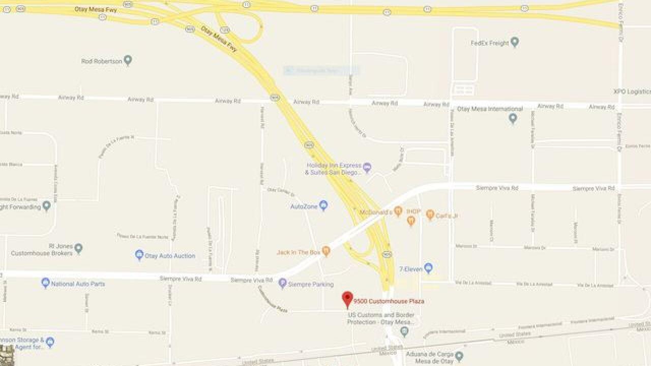 Late night car robbery near Otay Mesa border