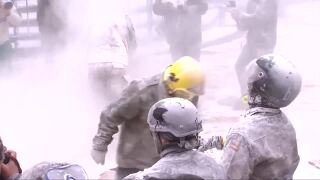 Video extra: Flour fight in Spain