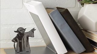 Cute Yoda Bookend Makes It Look Like He's Using The Force To Hold Up Your Books