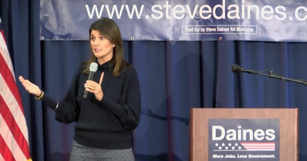 Haley campaigns in Great Falls for Daines and other Republicans
