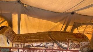 Archaeologists unearth 27 coffins at Egypt's Saqqara pyramid