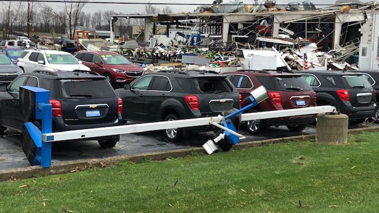 Shelby tornado damage