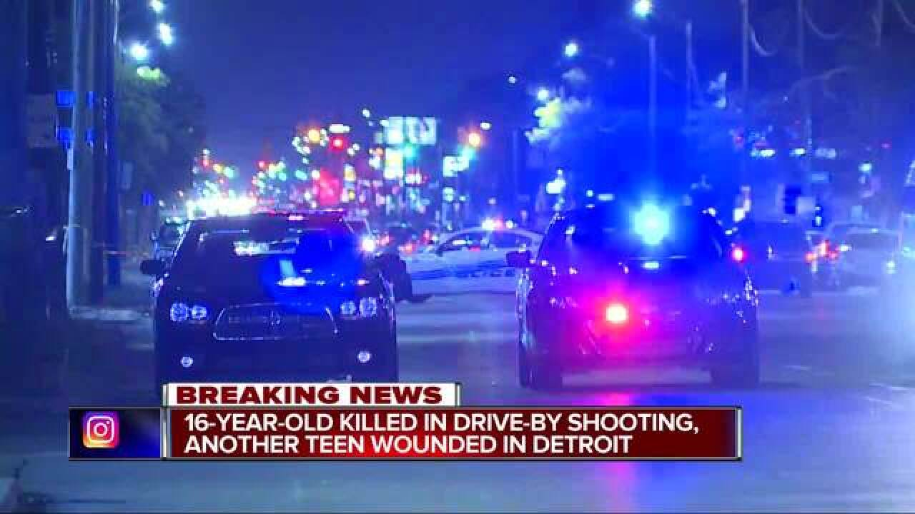 2 teens shot, one killed on Detroit's west side