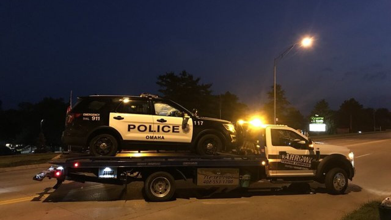 Omaha Police cruiser hit by drunk driver