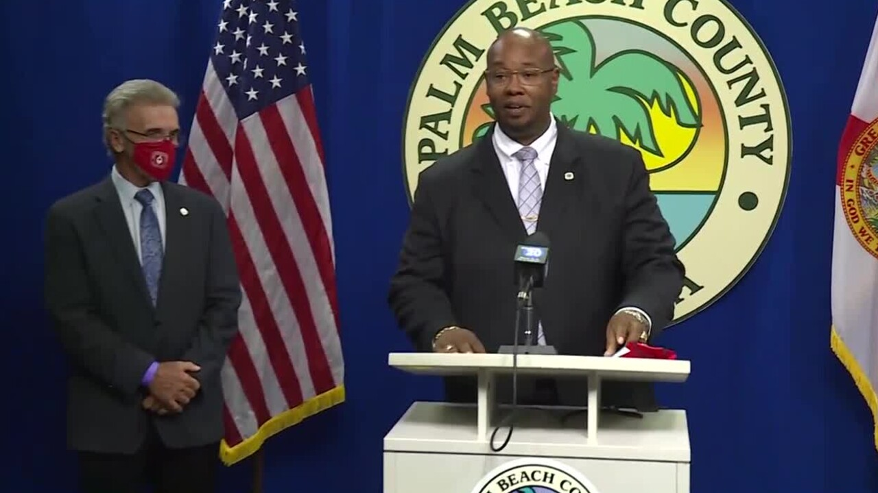Superintendent Dr. Donald Fennoy at Palm Beach County news conference, Sept. 18, 2020