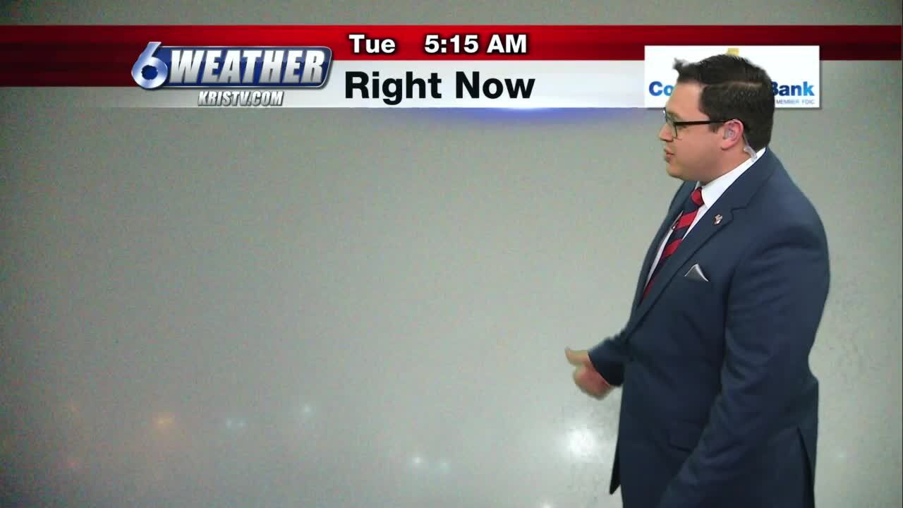Foggy conditions this morning across the Coastal Bend this morning