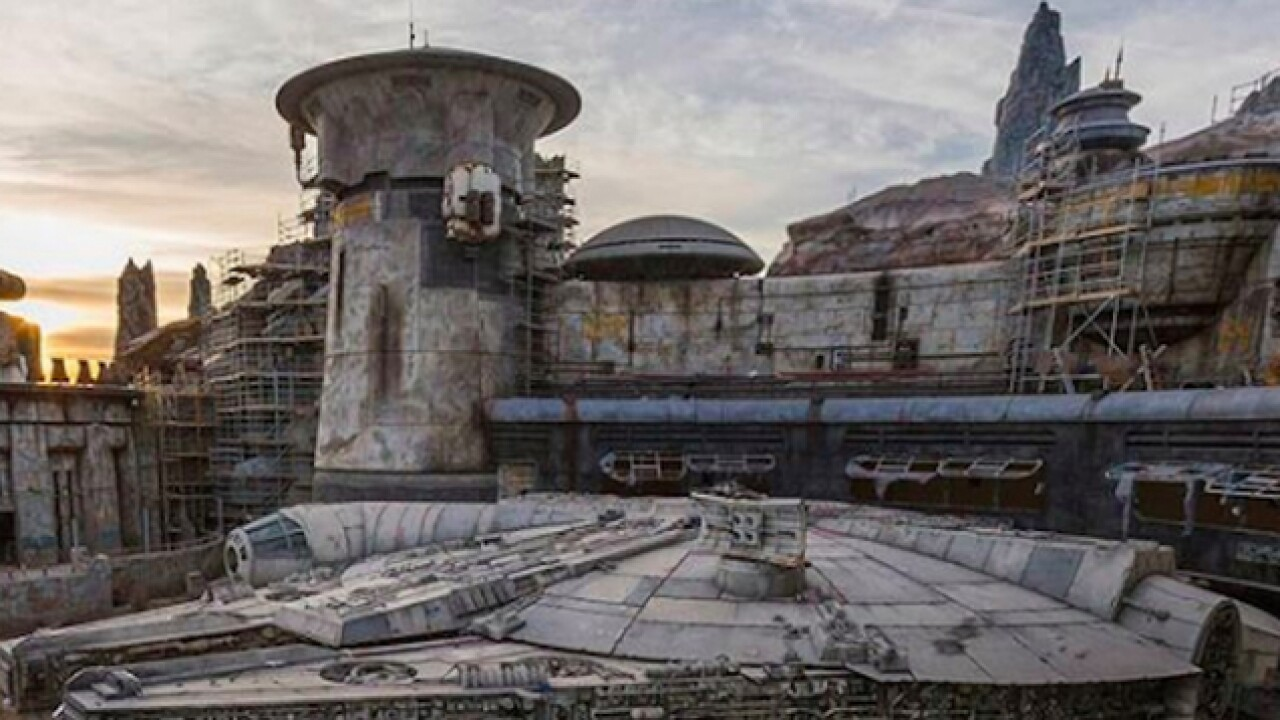 Disneyland releases first look at Millennium Falcon at 'Star Wars' expansion