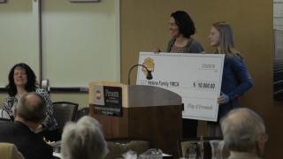 Helena Capital's Audrey Hofer presents Helena Family YMCA with $10,000 grant