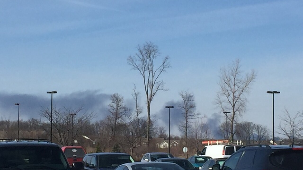 Large fire at auto parts business in Boone Co.