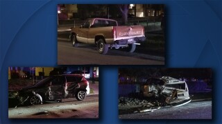Driver crashes into parked cars in Denver_Daryl Orr.jpg