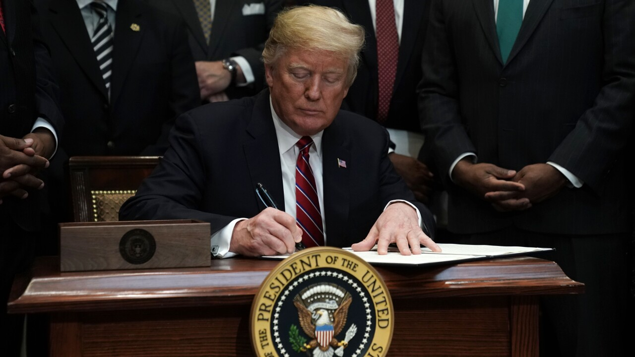 President Trump Signs Executive Order Establishing White House Opportunity And Revitalization Council