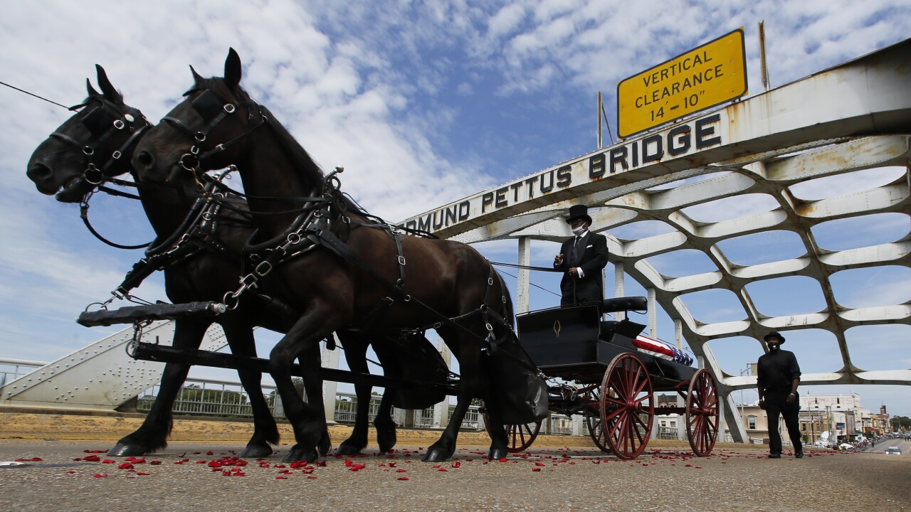 John Lewis procession to cross 'Bloody Sunday' bridge in Selma on Sunday