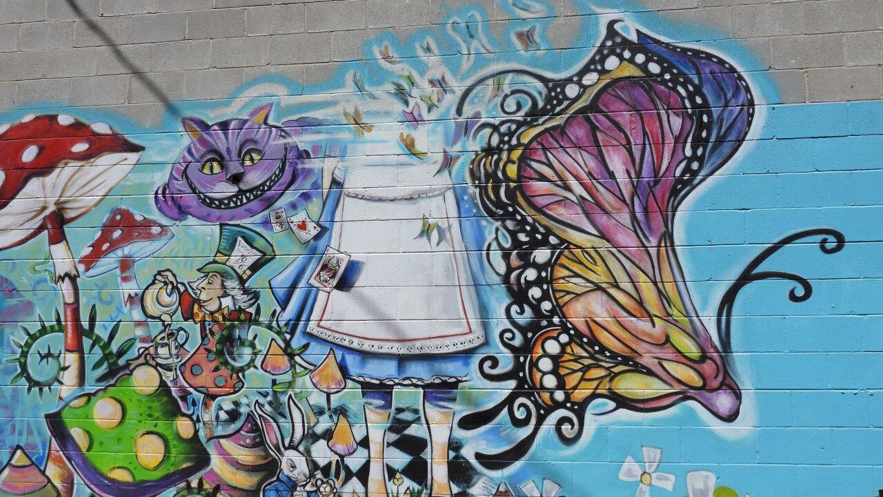 Mural based on Alice in Wonderland.JPG